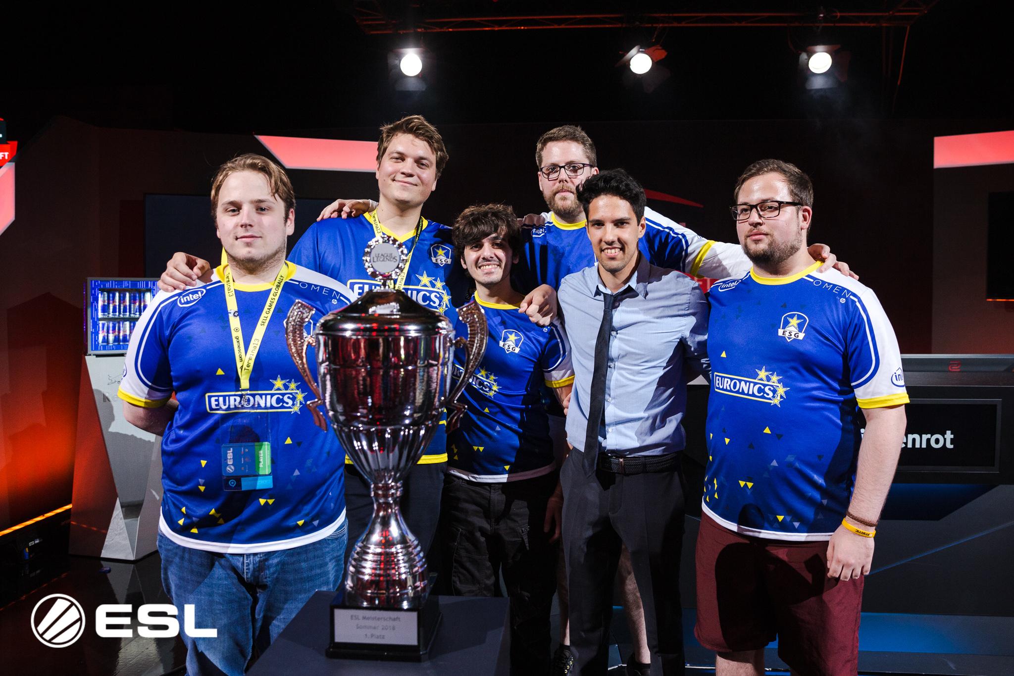 EURONICS Gaming verteidigt den ESL Meisterschafts Titel auf der gamescom 2018