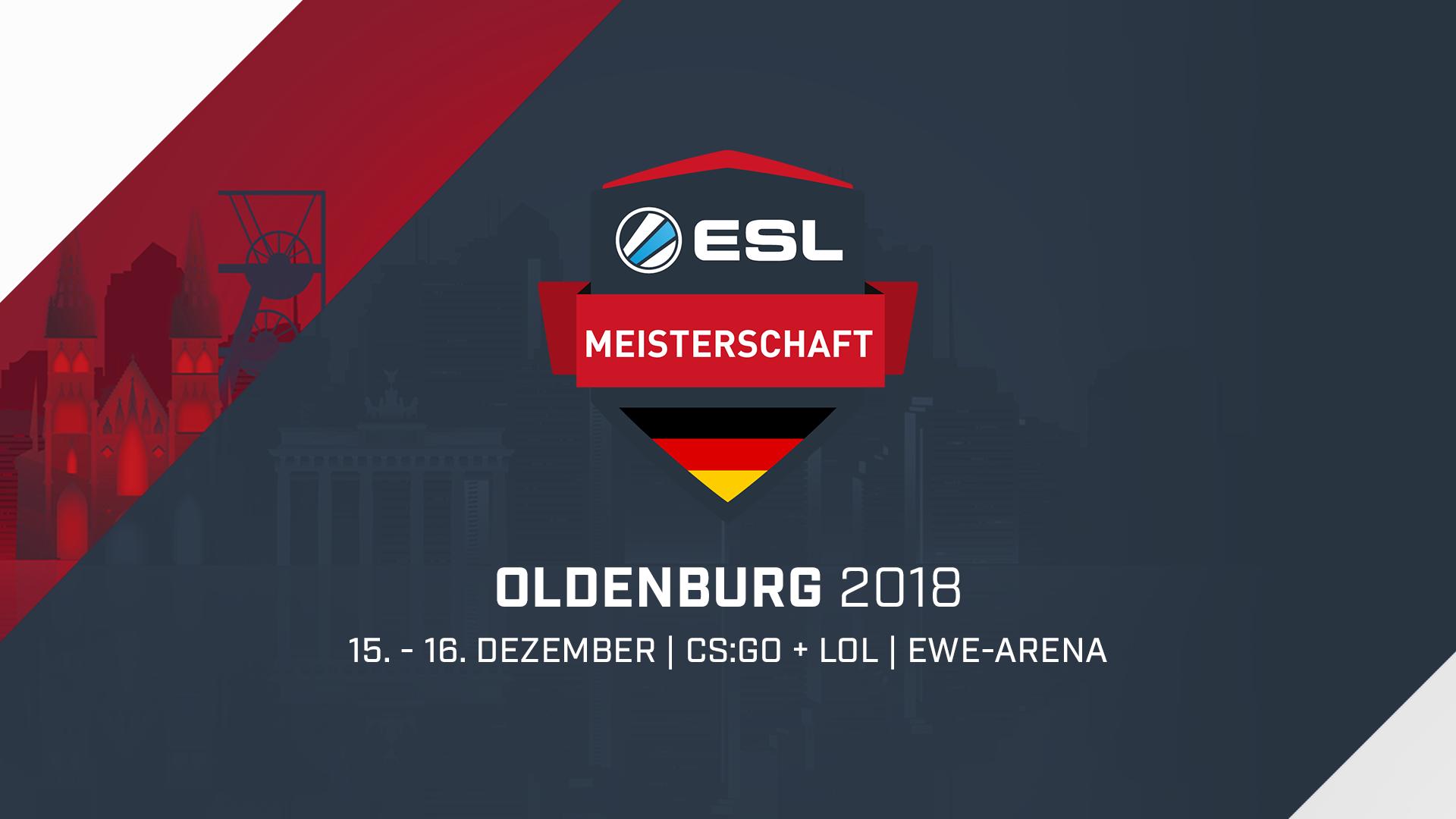Oldenburg wird Austragungsort der Finalspiele der ESL Wintermeisterschaft 2018!