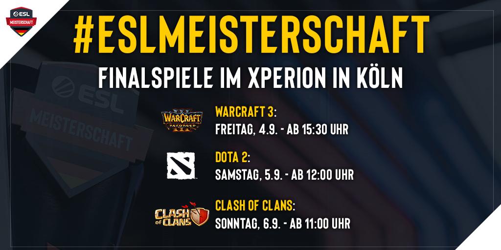 Die Finalspiele der ESL Meisterschaft aus dem Xperion in Köln
