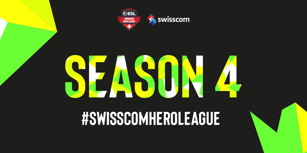 ESL SWISS ANNOUNCES THE FOURTH SEASON OF THE SWISSCOM HERO LEAGUE