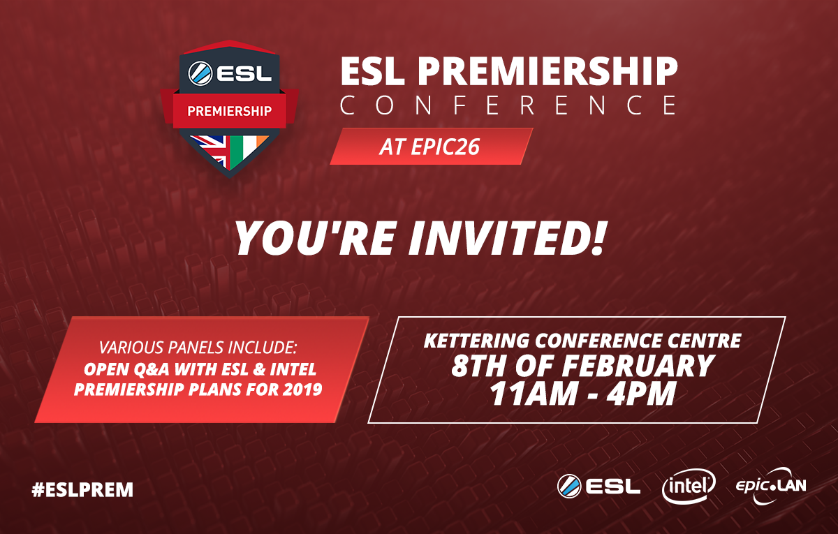 Meet the ESL UK Team at epic26