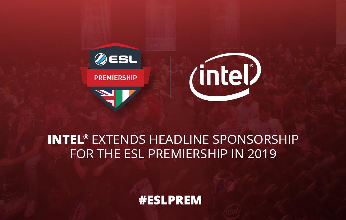 Intel extends headline sponsorship of the ESL Premiership in 2019