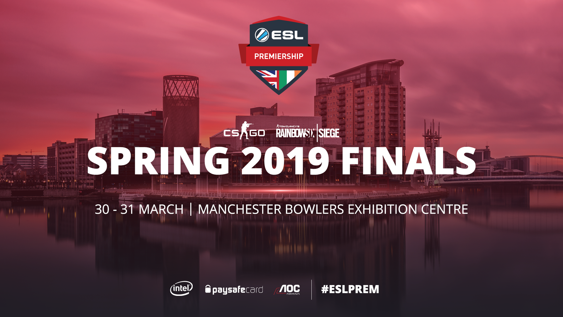 ESL Premiership Spring Season Finals will be played live in Manchester